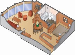 Celebrity Suite Floorplan