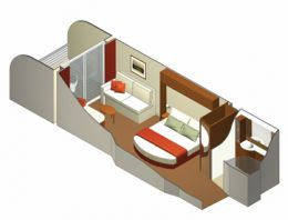 Sunset Veranda Stateroom Layout