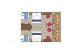 Staterooms for Families - Fantastica