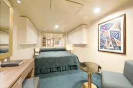 Inside Twin Cabin with Queen Bed