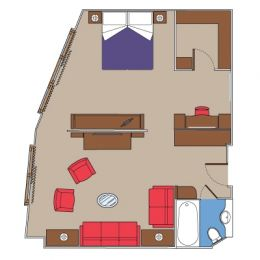 Executive & Family Suite floorplan