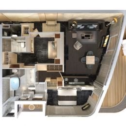 The Haven Deluxe Owner's Suite Floorplan