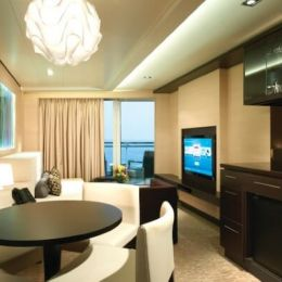 The Haven Aft-Facing Penthouse Living Room