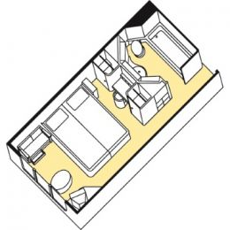 Window Stateroom - Category E Layout