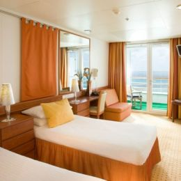Balcony Stateroom with Twin Beds