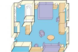 Suite with Window Layout