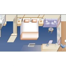 Obstructed Standard Balcony Stateroom