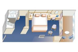 Standard Balcony Stateroom Layout
