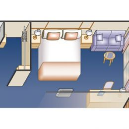 Deluxe Obstructed Balcony Stateroom