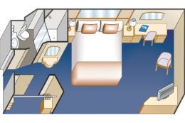 Interior Stateroom Floor plan
