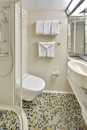 Large Oceanview Stateroom - Bathroom