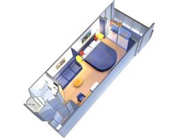 Deluxe Balcony Stateroom Layout