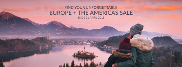 EUROPE & THE AMERICAS ON SALE!!