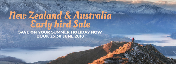 New Zealand and Australia Early Bird Sale