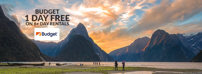 Budget New Zealand: Receive 1 Day FREE on 6+ day rentals