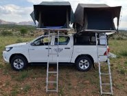 Caprivi Camper Hire Toyota Hilux Double Cab 2.4L Automatic with 2 Rooftent (4 PAX)