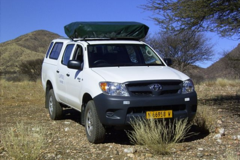 Caprivi Camper Hire Toyota Hilux Double Cab with 1 Rooftent