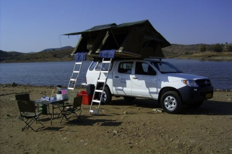 Caprivi Camper Hire Toyota Hilux Double Cab with 2 Rooftents