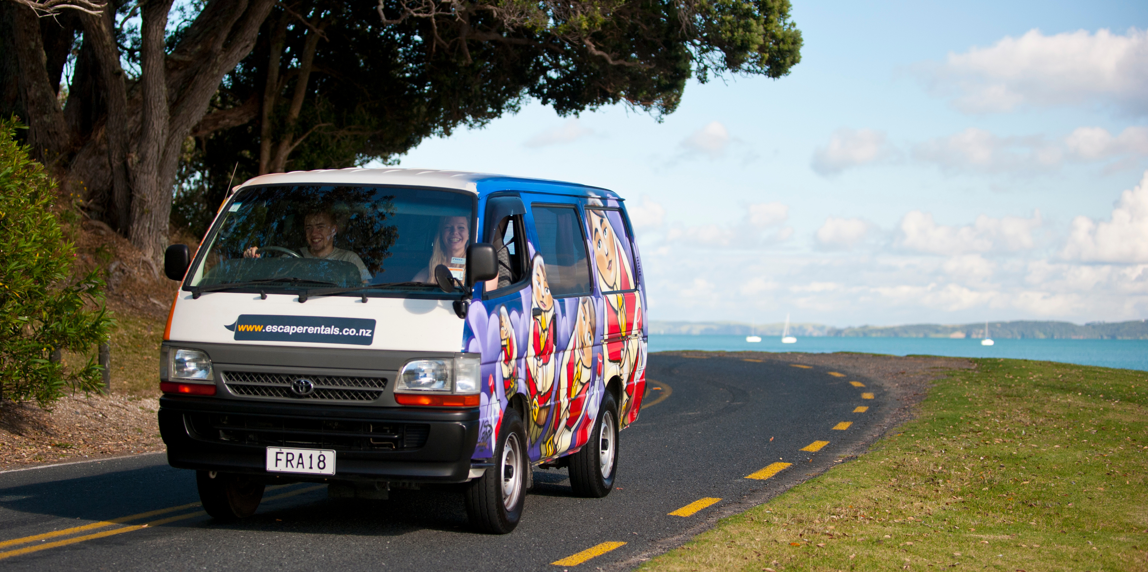 Escape Rentals New Zealand Certified Self-Contained Escape Campervan