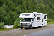 30ft Class C Freelander Silver rv rentals alaska