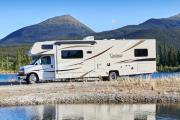 Camper1 Alaska 32ft Class C Freelander Bunk House Gold rv rentals alaska