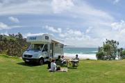 Maui Motorhomes NZ (domestic) Maui Platinum Beach Motorhome new zealand airport campervan hire