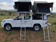 Caprivi Camper Hire Toyota Hilux Double Cab 2.4L Automatic with 2 Rooftent (4 PAX) motorhome motorhome and rv travel
