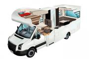 4 Berth Self Contained new zealand airport campervan hire