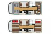 RV Shop 4 Berth Self Contained campervan rental new zealand