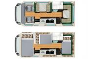 6 Berth Self Contained campervan hire - new zealand