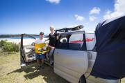 Spaceships Beta 2S Premium campervan hire - new zealand