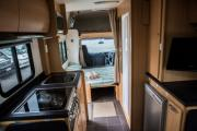 Kiwi Campers NZ Deluxe 7 Berth Mitsubishi Canter new zealand camper hire
