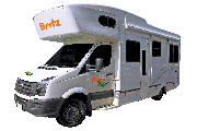 Britz Campervan Rentals (Intl) 6 Berth - Frontier campervan hire queenstown