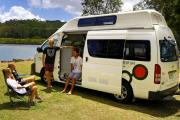 Mighty Campers AU Domestic 4 Berth Doubledown australia discount campervan rental
