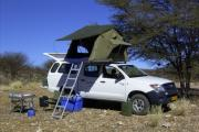 Caprivi Camper Hire Toyota Hilux Double Cab with 1 Rooftent camper hire south africa