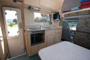 Riviera 6 Berth Deluxe campervan hire - new zealand