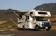 Britz Campervan Rentals US 4 Berth Class C non-slide motorhome rental los angeles
