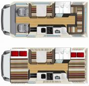 Star RV Australia Domestic Pandora RV - 4 Berth motorhome rental australia