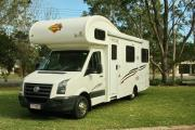 VW Euro Deluxe - 6 Berth Motor Home campervan hire australia