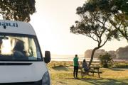 Maui Motorhomes NZ 2 Berth Ultima Elite new zealand airport campervan hire