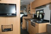 Kiwi Campers NZ Deluxe 6 Berth Mercedes Benz worldwide motorhome and rv travel