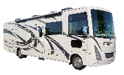 Compass Campers USA (International) AF34 Class A Motorhome Slide Out rv rental san francisco