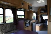 Walkabout Motorhomes NZ 6 Berth  Luxury Mitsubishi Fuso new zealand airport campervan hire