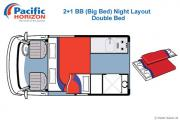 Pacific Horizon Travel Homes 2+1 Berth Campervan Premium new zealand airport campervan hire