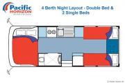 Pacific Horizon Travel Homes 4 Berth Premium  Campervan motorhome rental new zealand