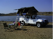 Caprivi Camper Hire Toyota Hilux Double Cab 2.4L with 2 Rooftents motorhome rental south africa