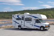 Camper1 Alaska 22ft Class C Freelander Copper rv rentals alaska