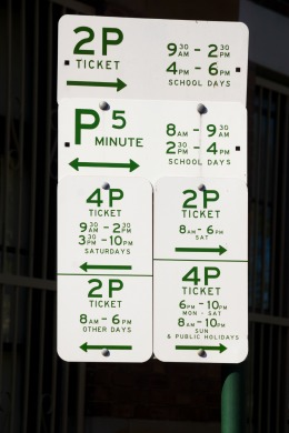 Parking sign in Australia
