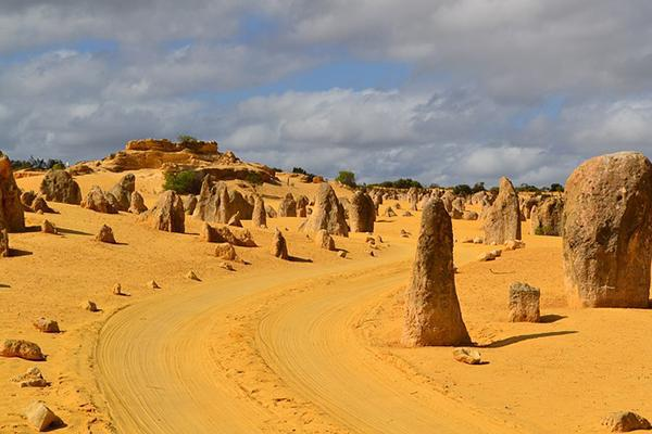The Pinnacles rock formations in Nambung National Park, Western Australia