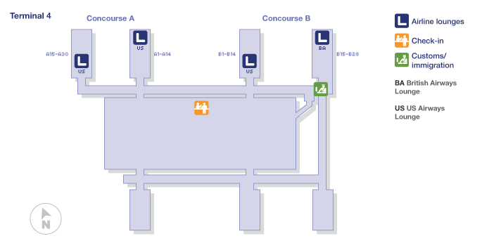 Phoenix Sky Harbor International Terminal Map
